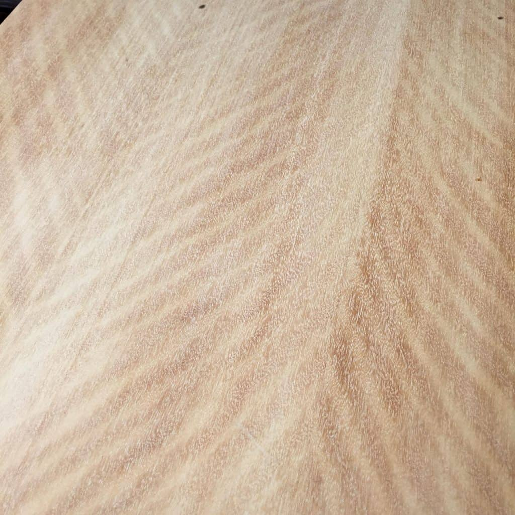 The lid of the chest, completely sanded.