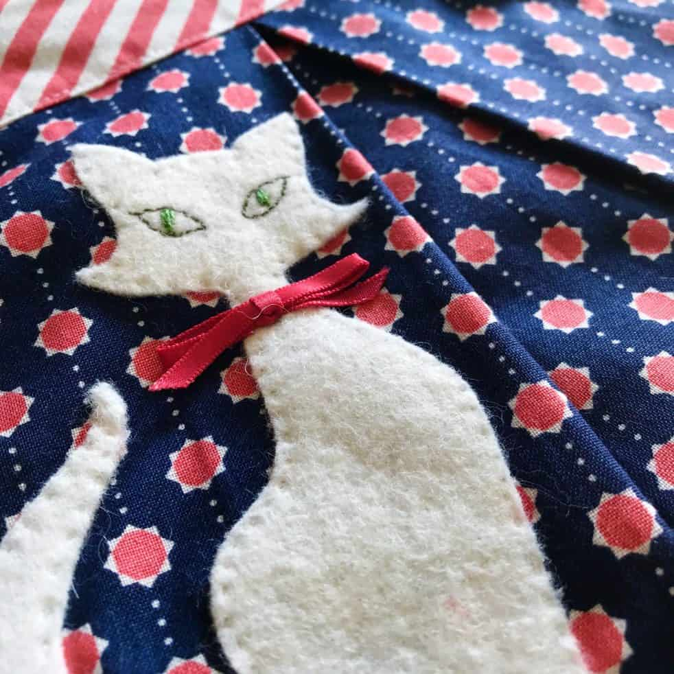 cat appliqué pdf pattern