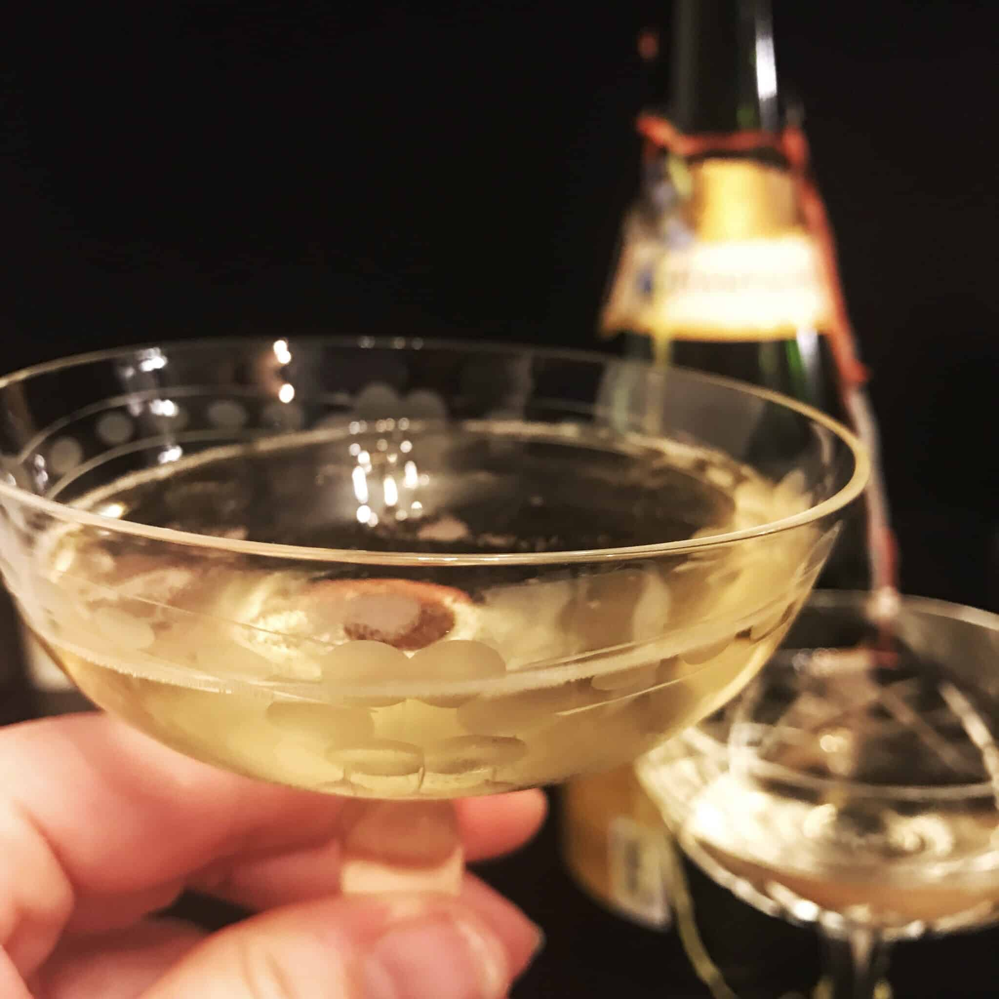 Champagne toast for new year 2018