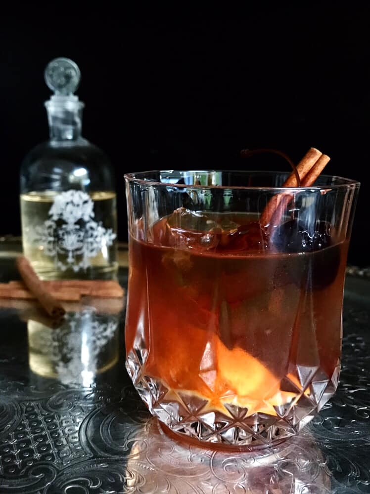 Festive holiday cocktails - winter spied old fashioned